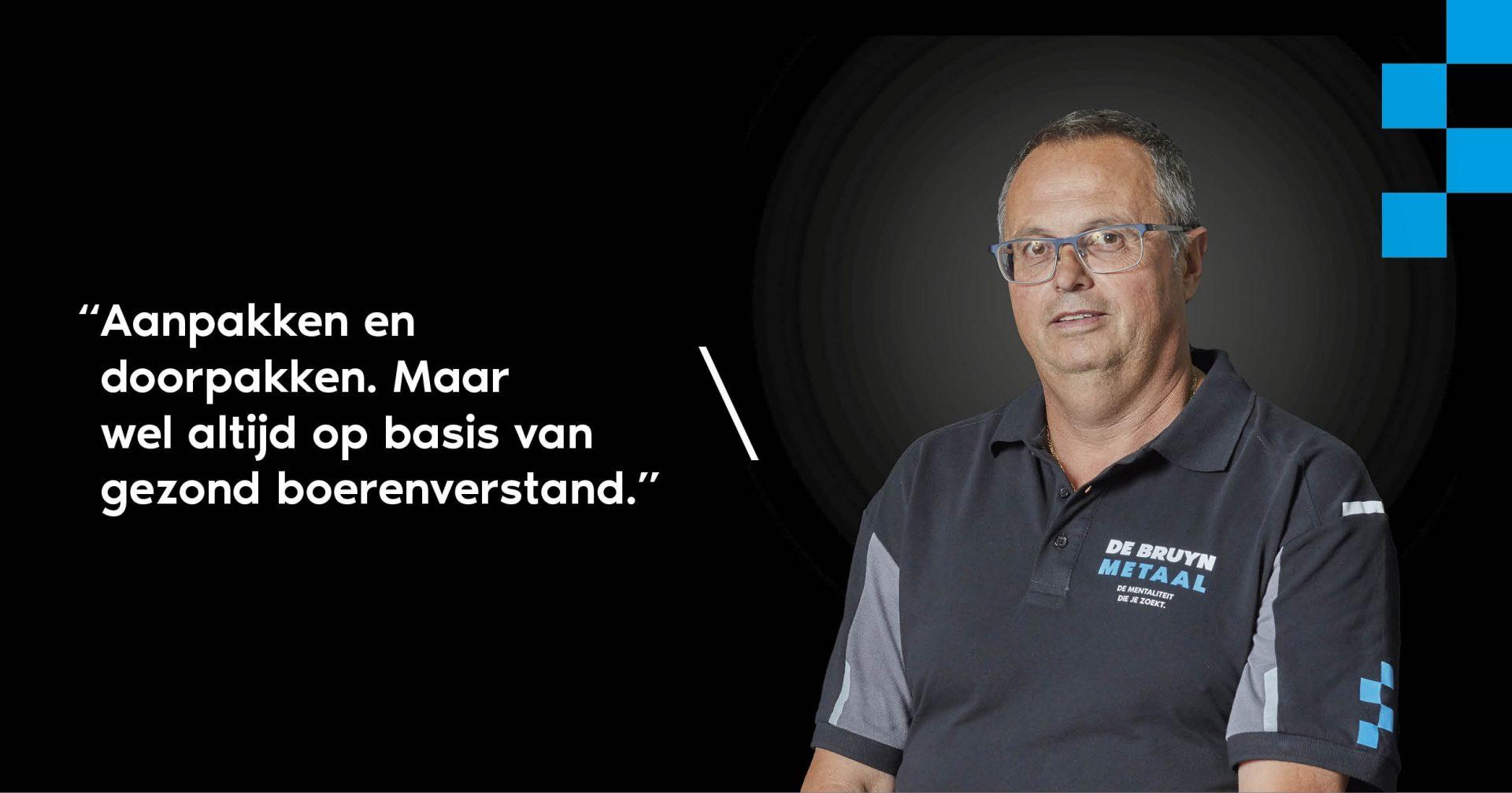 Jack Daris kwaliteitscontroleur De Bruyn Metaal
