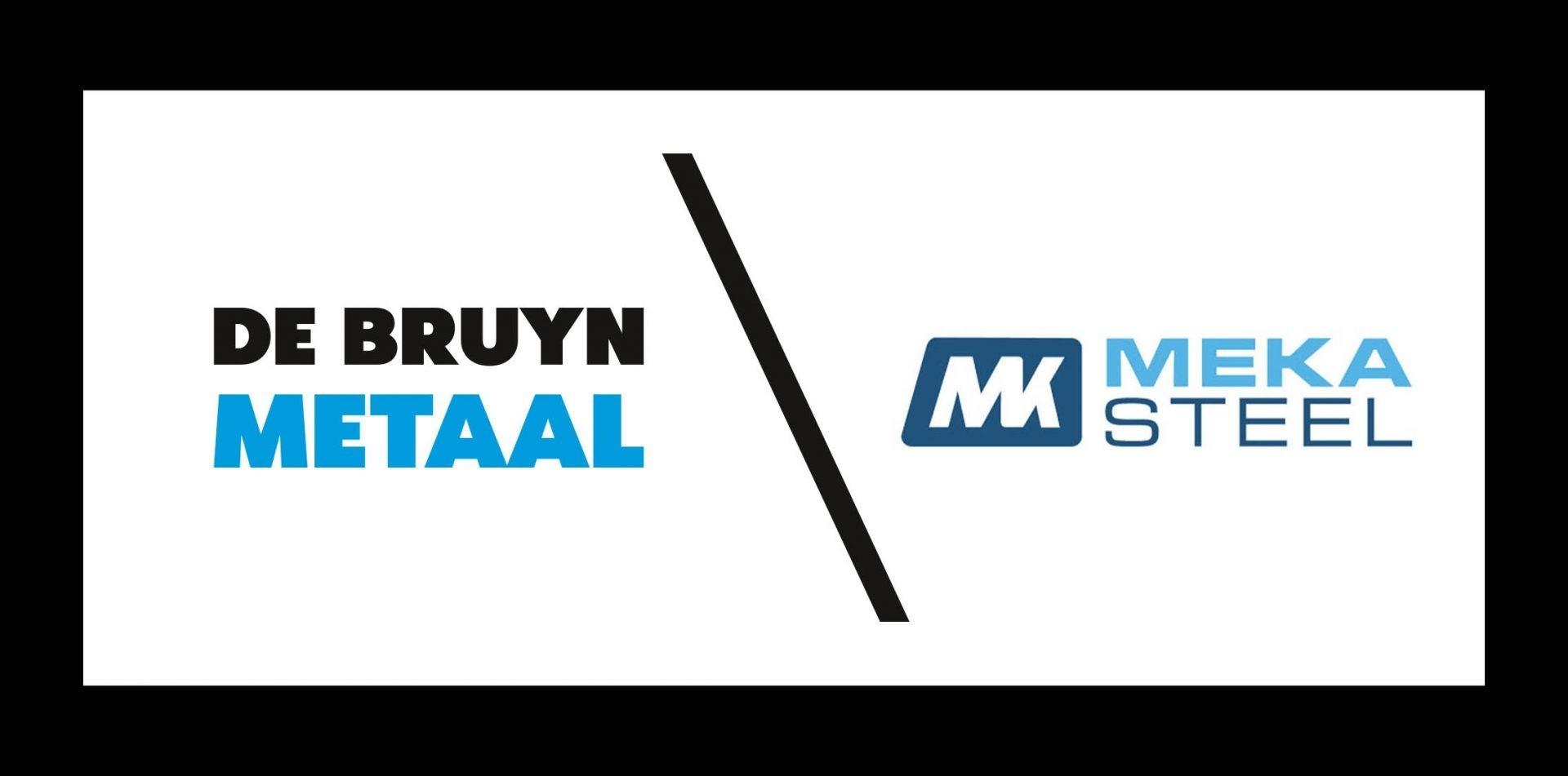 Logo De Bruyn metaal en Meka Steel
